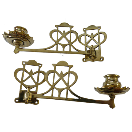 Sconces - Antique Brass Sweetheart Piano Candle Sconces